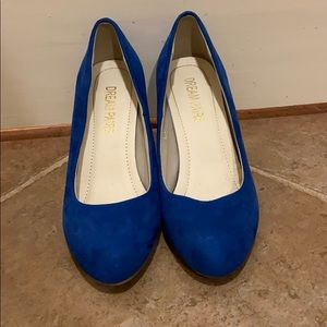 Blue Faux Suede Heels | Dream Paris